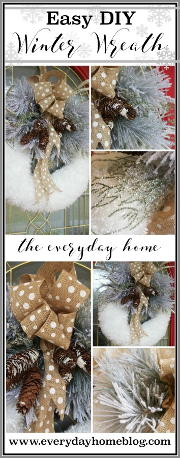 Easy DIY Iced Winter Wreath | The Everyday Home | www.everydayhomeblog.com
