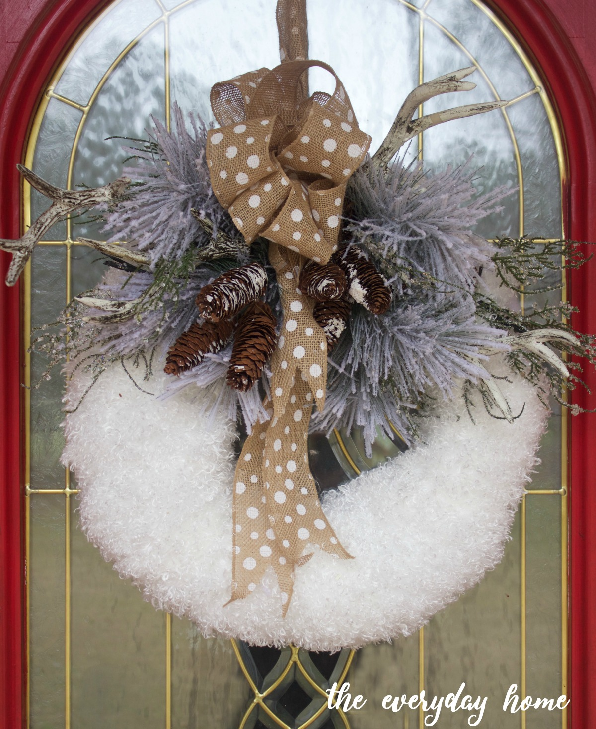 DIY Winter Wreath by Everyday Home Blog
