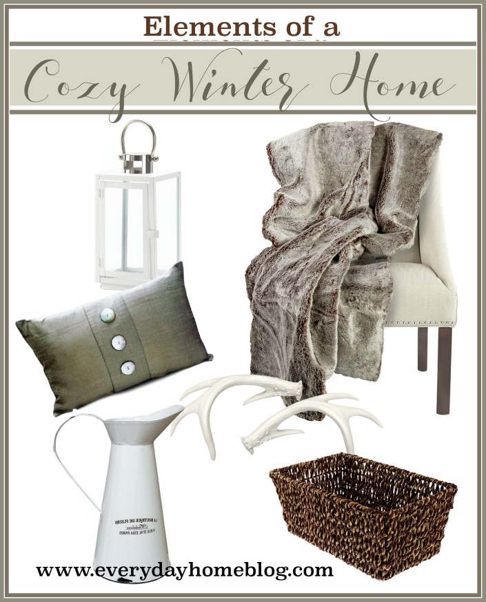 Elements of a Cozy Winter Home | The Everyday Home
