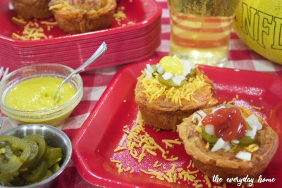 Game Day Chili Cheese Dog Cups | The Everyday Home | www.everydayhomeblog.com