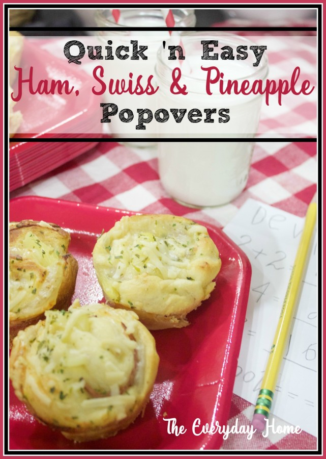 Ham, Swiss & Pineapple Popovers | The Everyday Home | www.everydayhomeblog.com