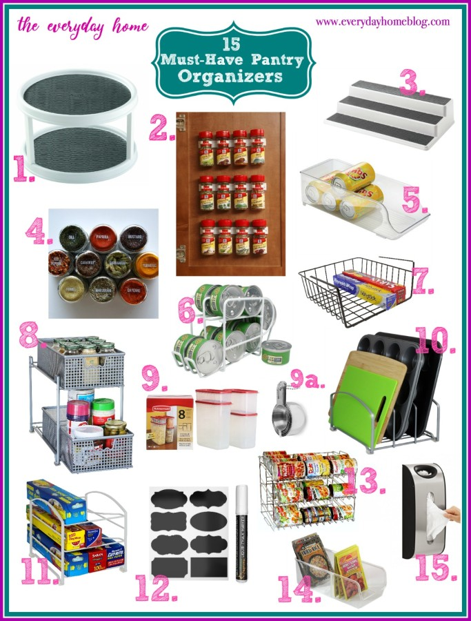 15 Must Have Pantry Organizing Items | The Everyday Home | www.everydayhomeblog.com