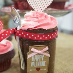 Valentine's Day Cupcakes in a Jar