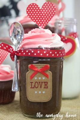 Valentine's Cupcake in a Jar
