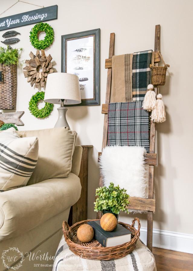 DIY Blanket Ladder Tutorial | Worthing Court Blog