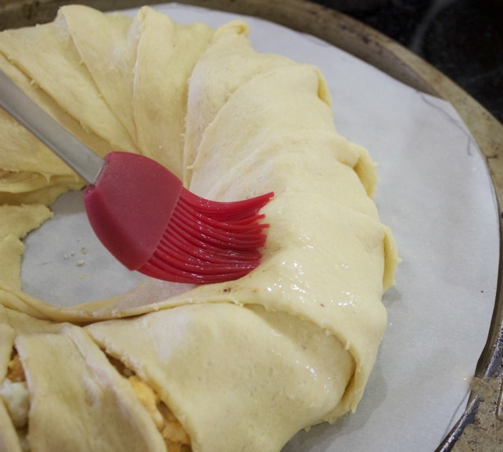 Apply Eggwash with Pastry Brush