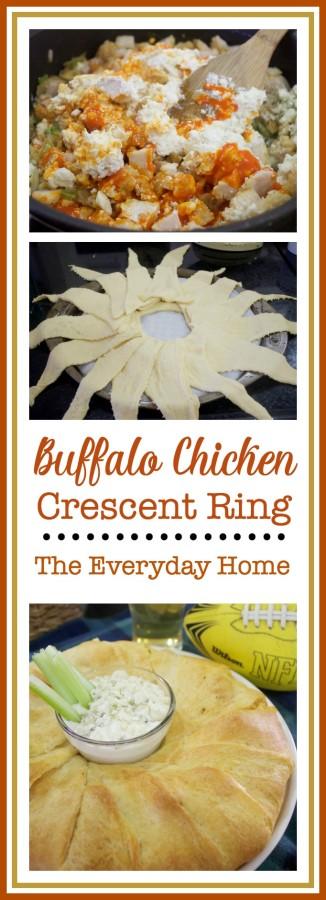 Buffalo Chicken Crescent Ring Recipe | The Everyday Home | www.everydayhomeblog.com