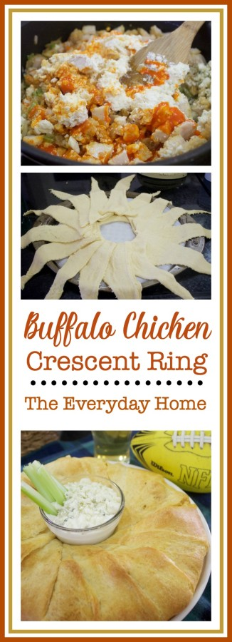 Buffalo Chicken Crescent Ring Recipe | The Everyday Home | www.everydayhomeblog.com