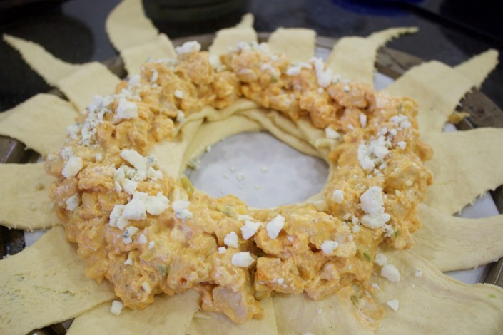 Buffalo Chicken Filling on Crescent Ring