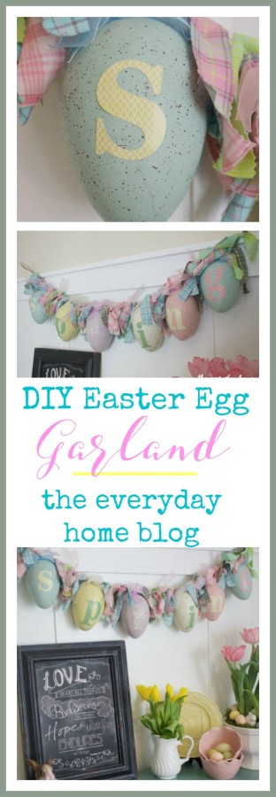 DIY Easter Egg Rag Garland | The Everyday Home