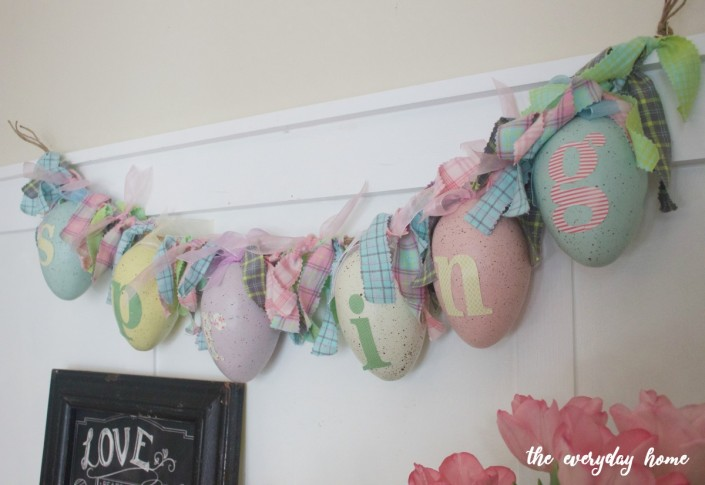 DIY Spring Egg Garland | The Everyday Home