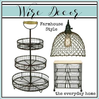 Farmhouse Style Wire Decor