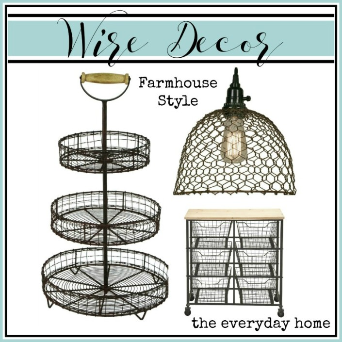 Farmhouse Wire Decor | The Everyday Home