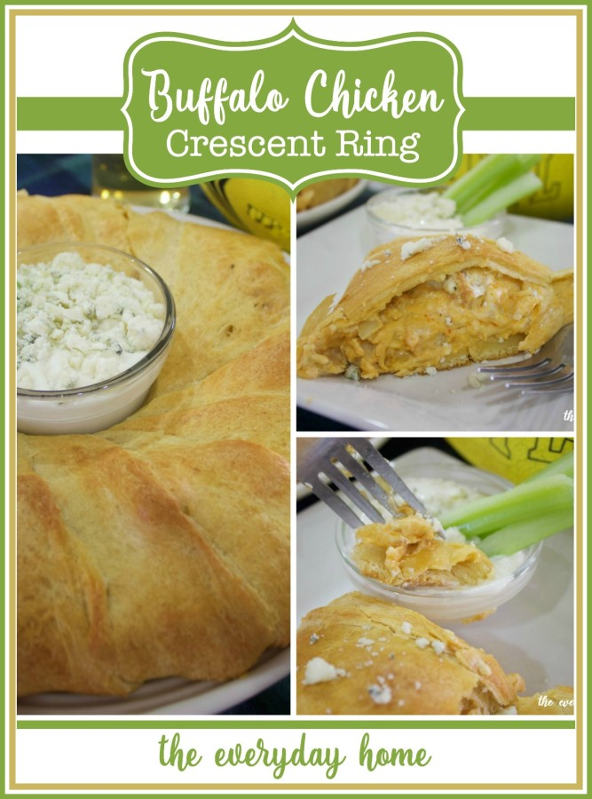Recipe for Buffalo Chicken Crescent Ring | The Everyday Home