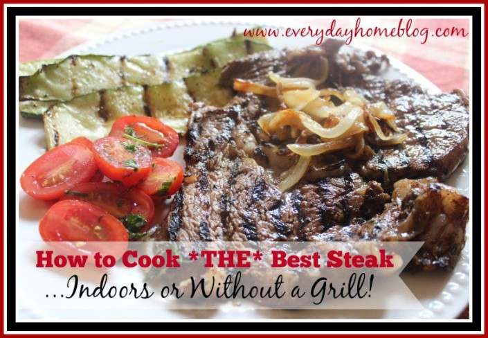 how to cook steak at home without a grill