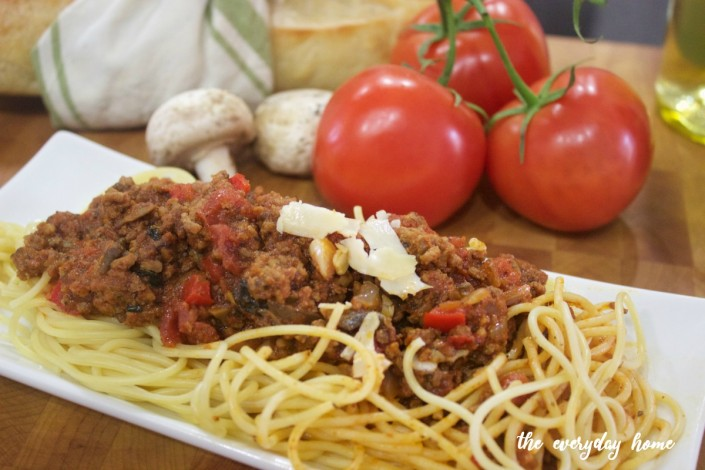 Three Meat Spaghetti Sauce | The Everyday Home | www.everydayhomeblog.com