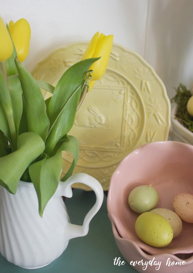 Yellow Tulips and Spring Dishes