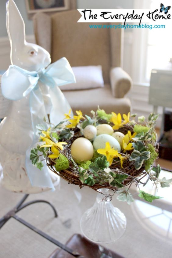 Easy DIY Bird Nest with Eggs | The Everyday Home