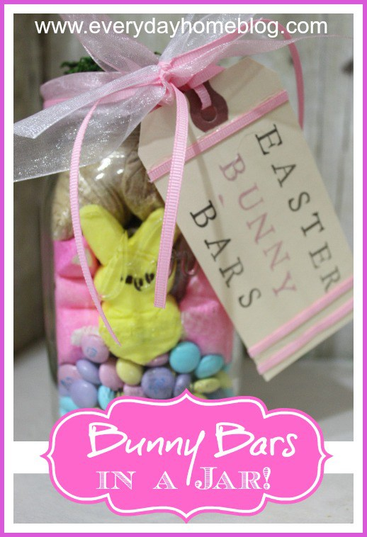 Bunny Bars in a Jar | The Everyday Home | www.everydayhomeblog.com