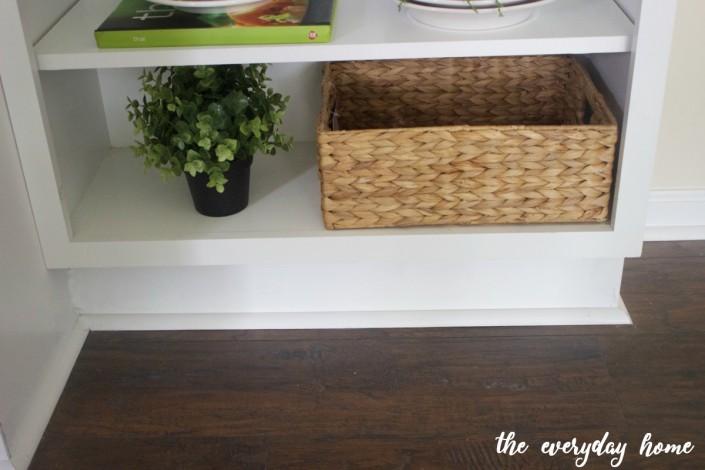 Creating Open Shelves Cabinet   The Everyday Home   www.everydayhomeblog.com