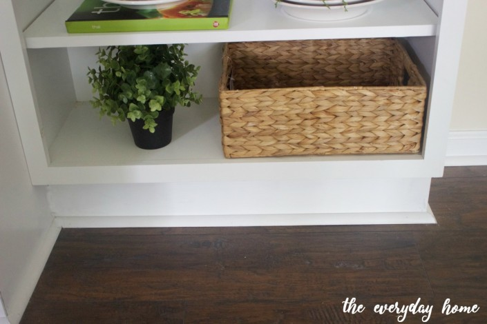 Creating Open Shelves Cabinet | The Everyday Home | www.everydayhomeblog.com