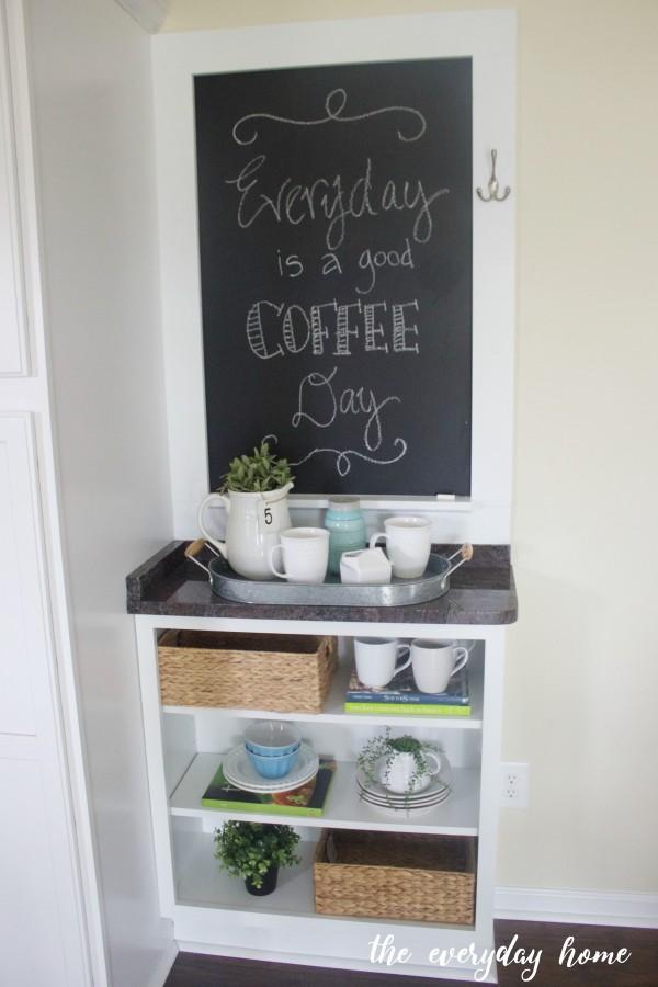 Custom Cabinet and Chalkboard   The Everyday Home   www.everydayhomeblog.com