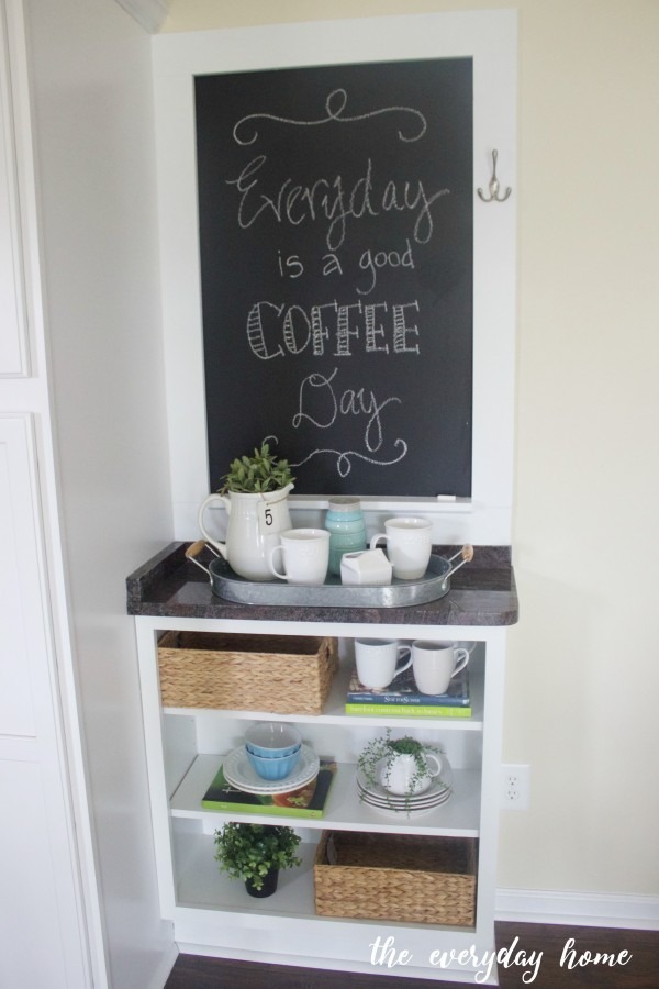 Custom Cabinet and Chalkboard | The Everyday Home | www.everydayhomeblog.com