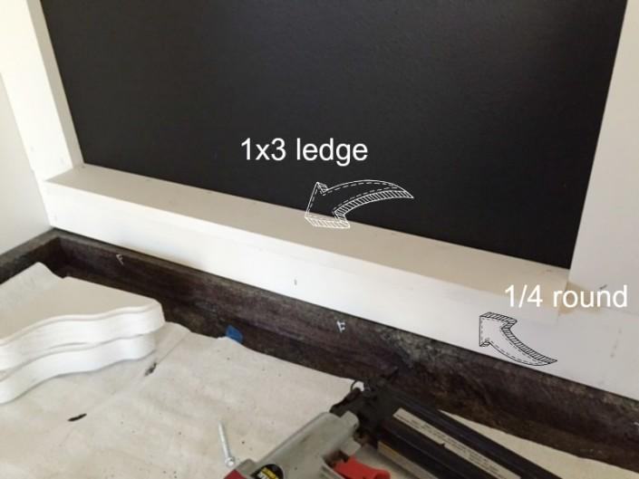 Custom Chalkboard Ledge