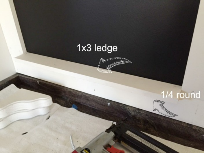 Custom Chalkboard Ledge