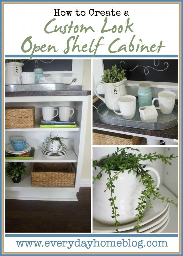 Custom Open Shelf Cabinet   The Everyday Home   www.everydayhomeblog.com