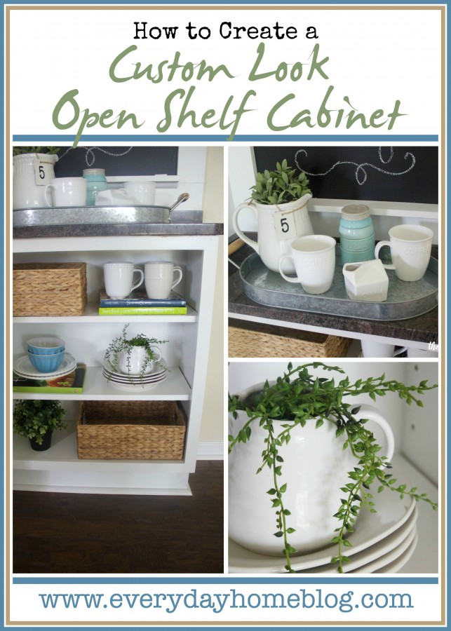 Custom Open Shelf Cabinet | The Everyday Home | www.everydayhomeblog.com