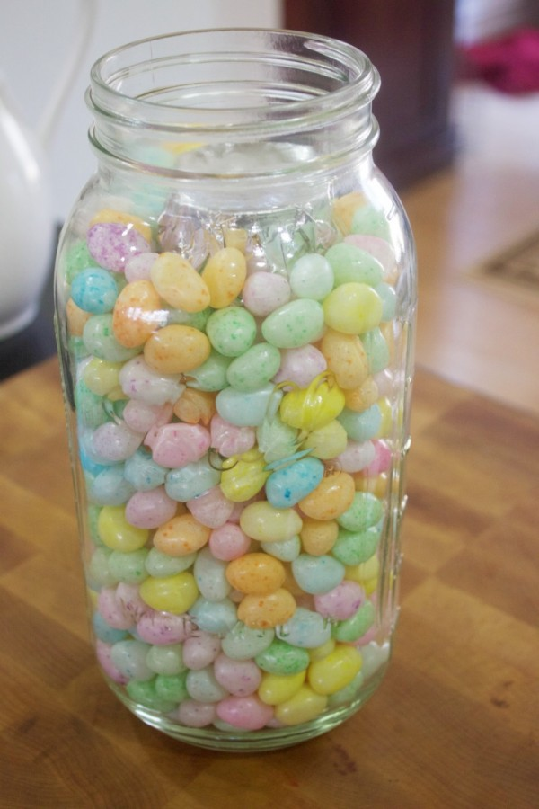 Easter Candy in Jar