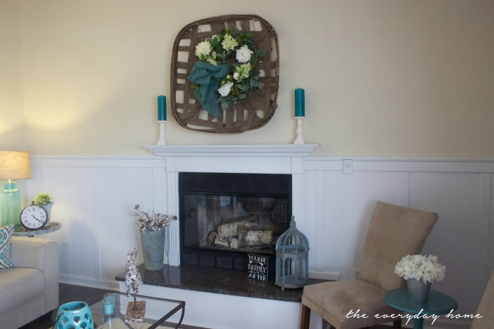 Flip House Living Room Fireplace Design | The Everyday Home