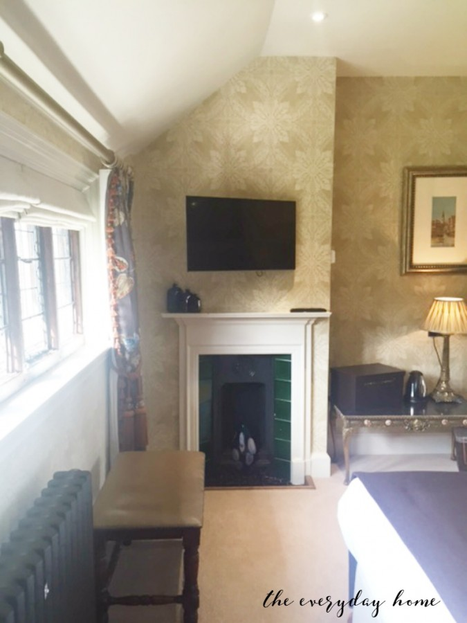 Hever Castle Inn | Bedroom Fireplace | The Everyday Home