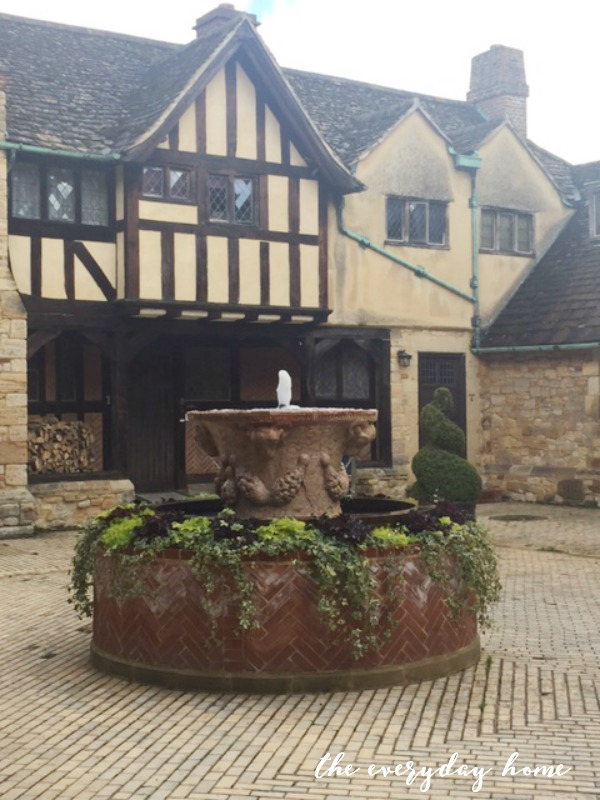 Hever Castle Inn | Courtyard Fountain | The Everyday Home