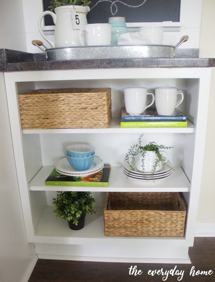 How to Create an Open Cabinet with a Stock Cabinet   The Everyday Home   www.everydayhomeblog.com