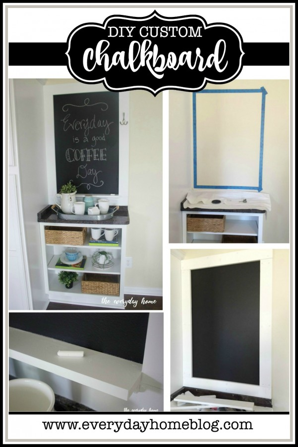 Make a Custom Chalkboard | The Everyday Home | www.everydayhomeblog.com