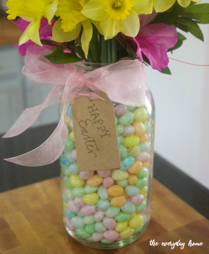 Mason jar easter centerpiece the everyday home