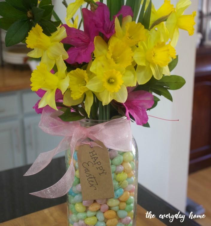 Mason Jar Spring Flower Vase | The Everyday Home