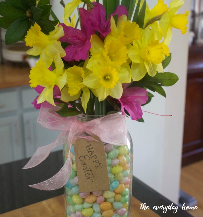 Mason Jar Easter Centerpiece