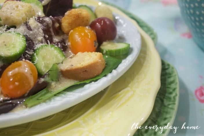 Salad with Tuscan Vinaigrette   The Everyday Home