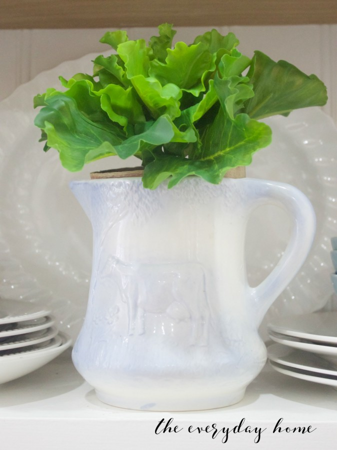 Spring Home Tour | Lettuce in Cow Pitcher | The Everyday Home