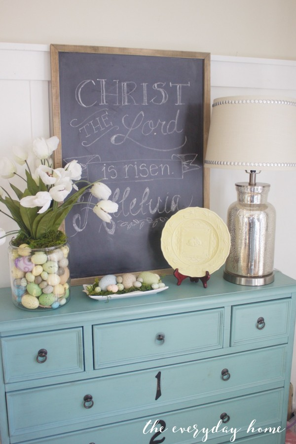 Spring Kitchen Tour | Blue Chest and Chalkboard | The Everyday Home