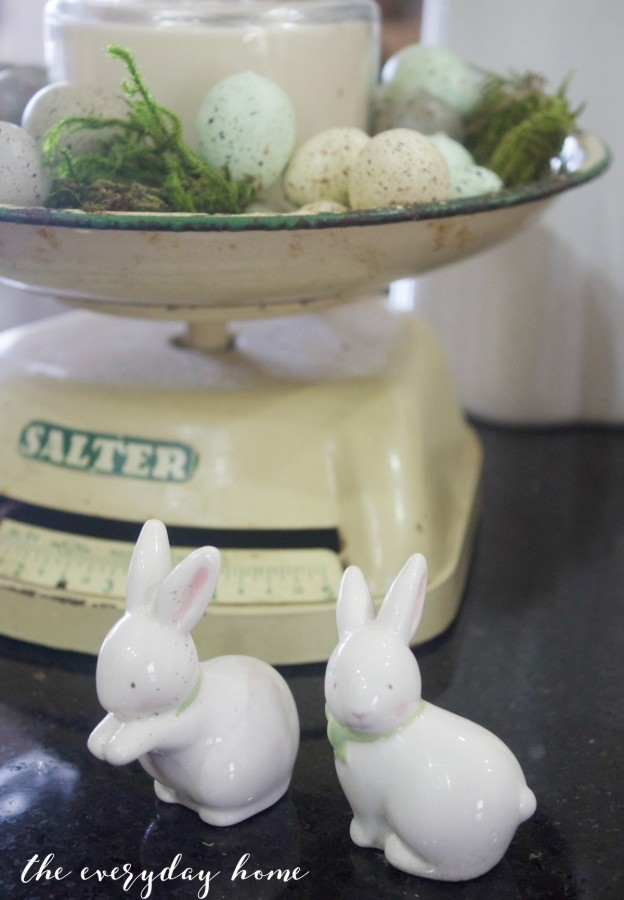 Spring Kitchen Tour | Bunnies & Vintage Scale | The Everyday Home