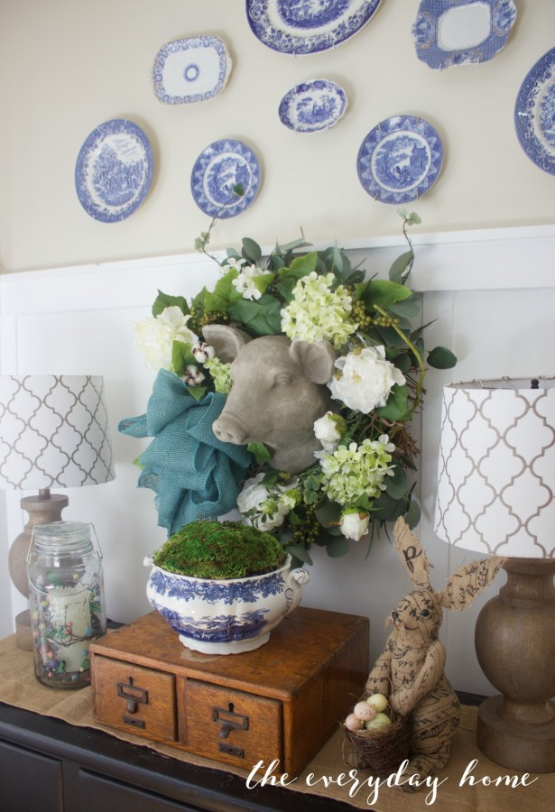 Spring Kitchen Tour | Plate Wall | The Everyday Home