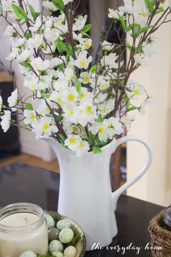 Spring Kitchen Tour | White Pitcher | The Everyday Home