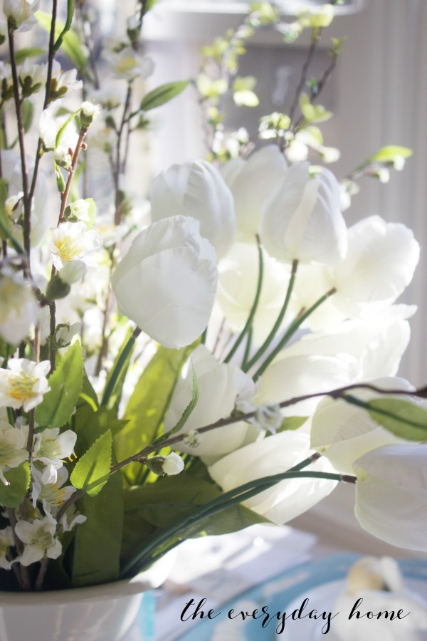Spring Kitchen Tour | White Spring Tulips | The Everyday Home