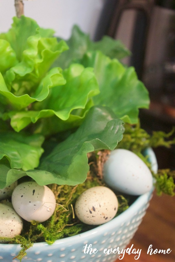Spring Lettuce in Farmhouse Bowl | The Everyday Home
