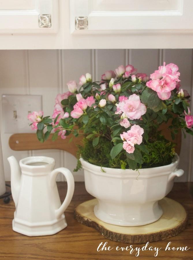Spring kitchen Tour | Pink Azalea | The Everyday Home