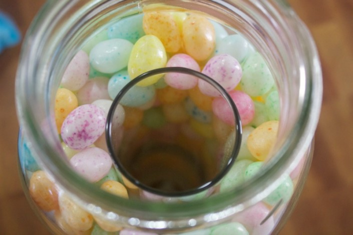 Top of Candy Filled Jar